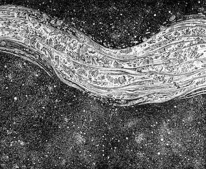კომეტა.  ცენტრალური ნაწილი.