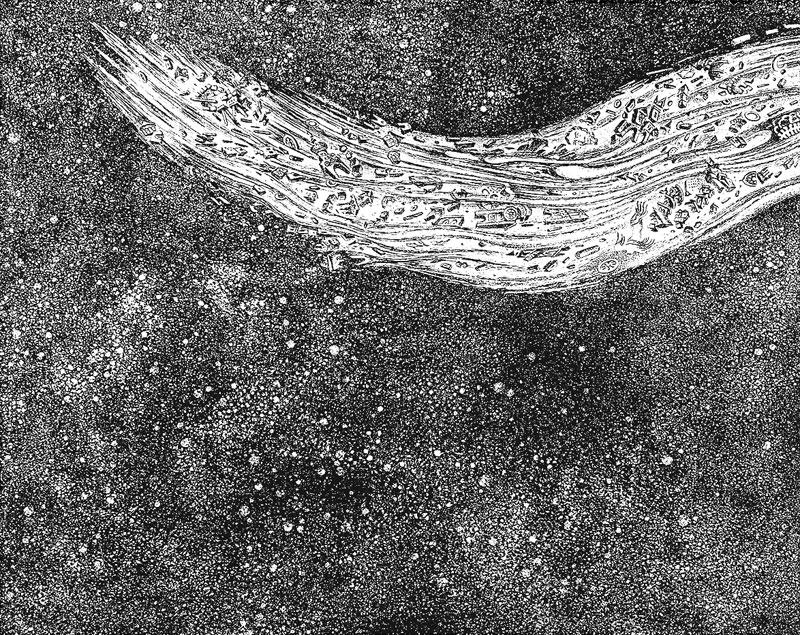 კომეტა.   მარცხენა ნაწილი.
