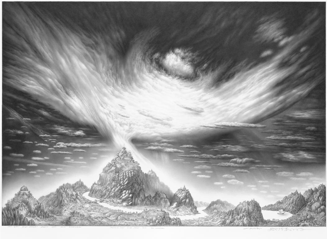 """იმერეთი ზღაპარია.  სერიიდან """"ღრუბლები"""".  ფურცელი 2.  ფანქარი. 54,7х79.  18.12. 2010-21.08. 2011."""